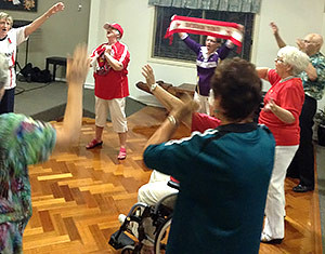 sunshine coast retirement village football night