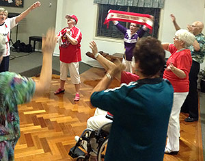 sunshine coast retirement village football night - Caloundra